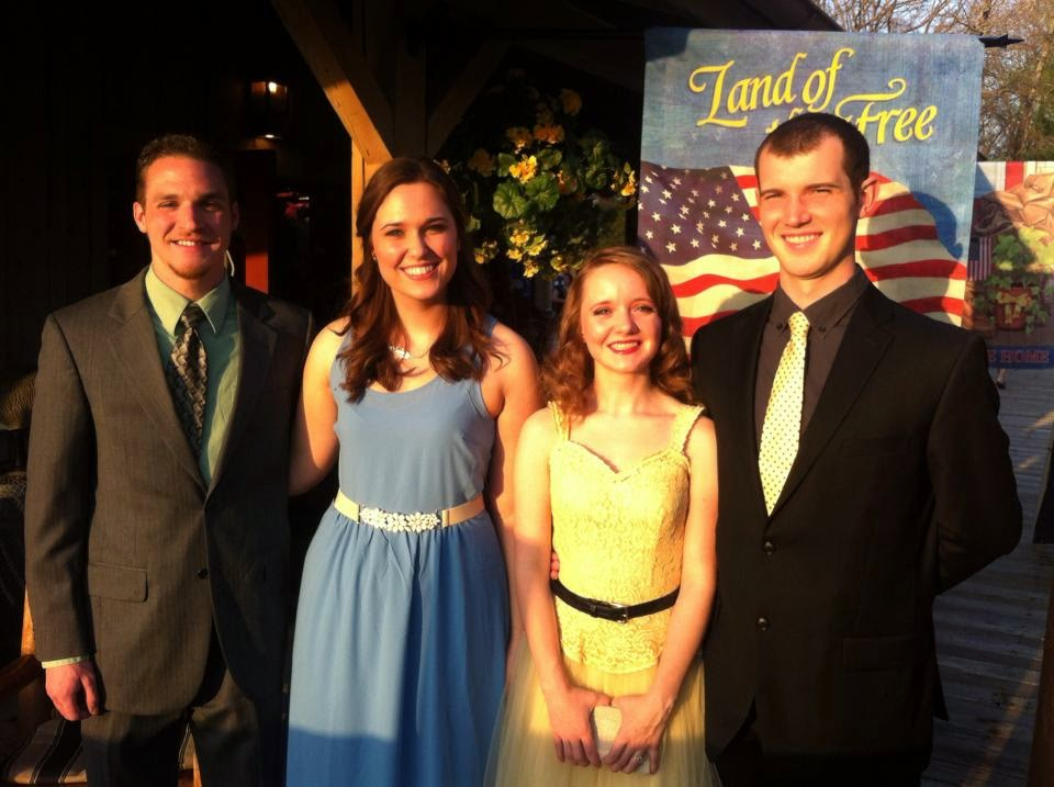 Flashback Summer:  Junior-Senior University Banquet 2014 - 1940s formal dress gown