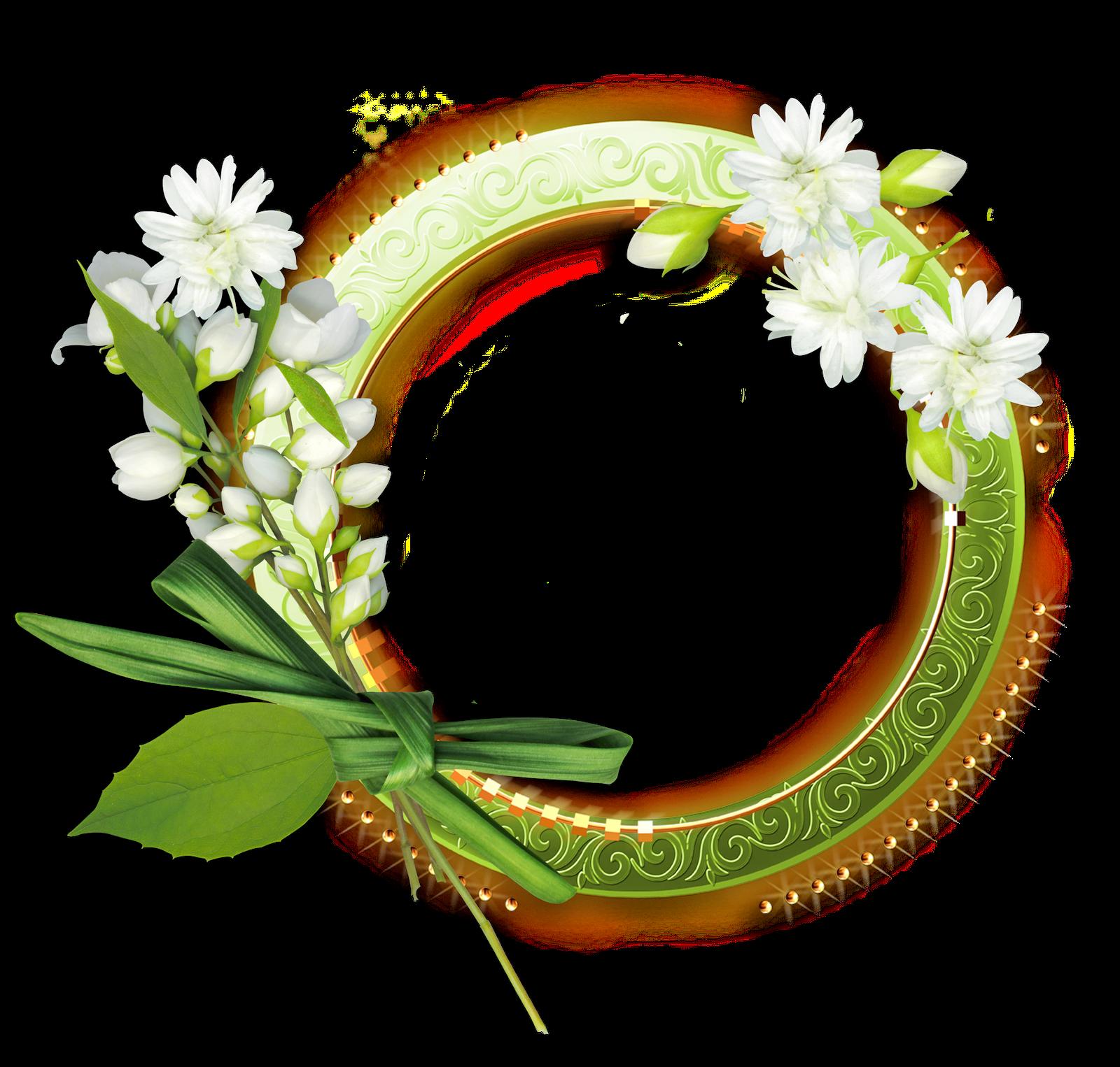Marcos florales para fotos formato png gratis - Marcos redondos para cuadros ...