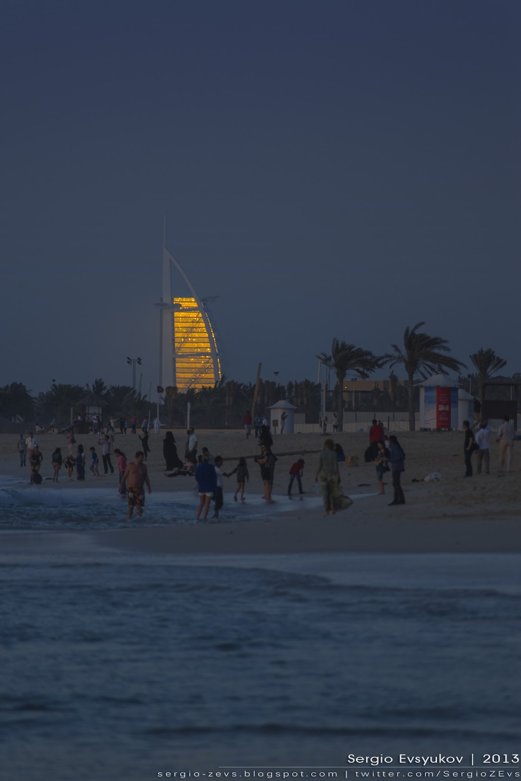 hotel Burj Al Arab at sunset