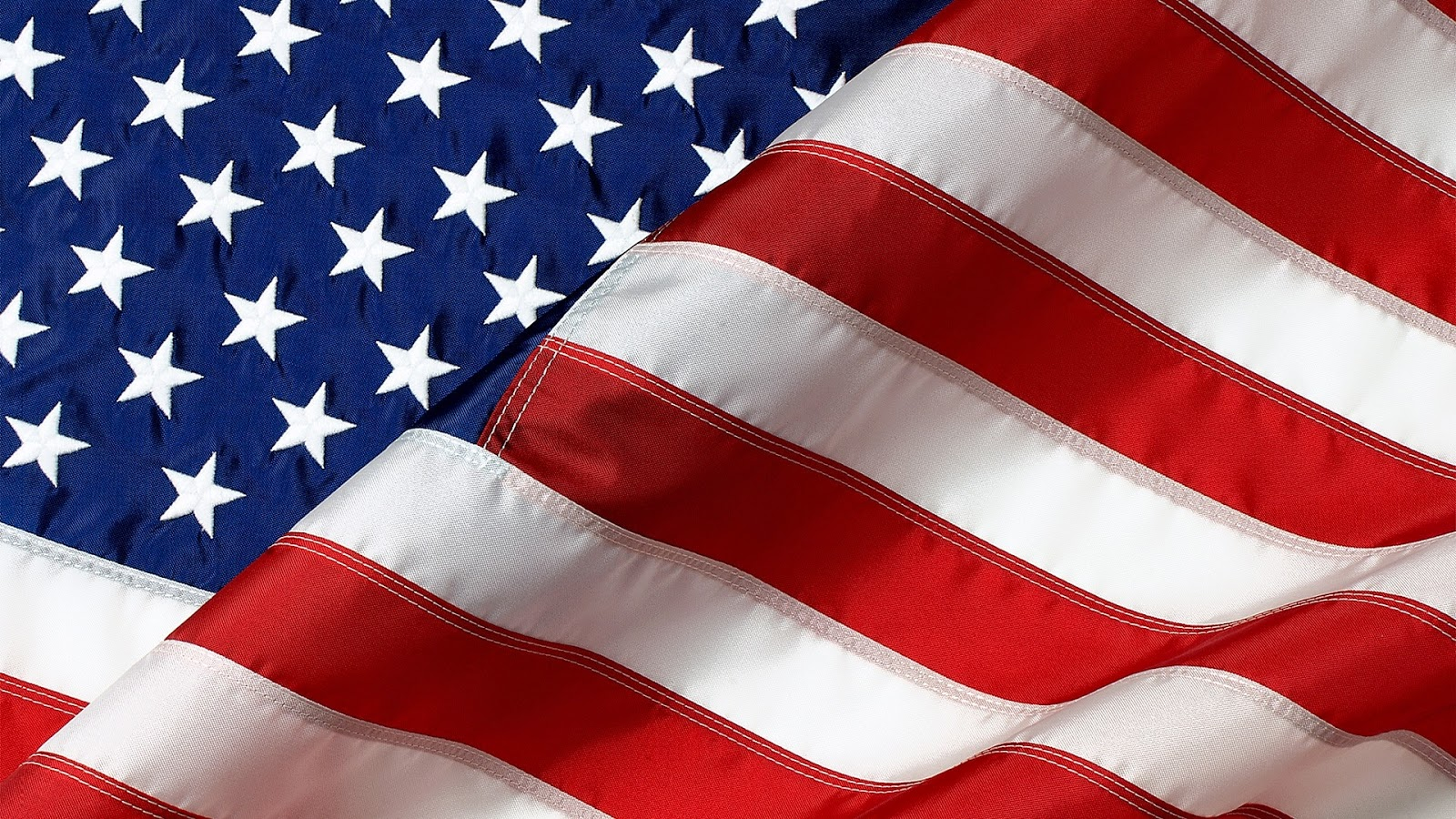 Cool American Flag with White Stars and Red Strips for PC Desktop Backgrounds