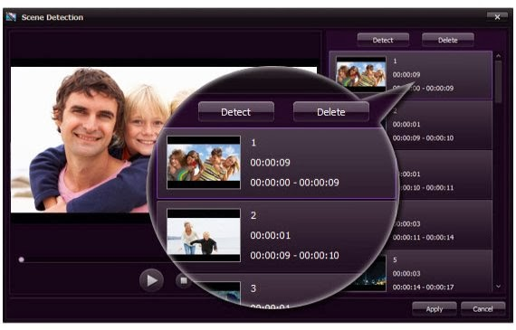 Smart Scene Detection of Wondershare Video Editor