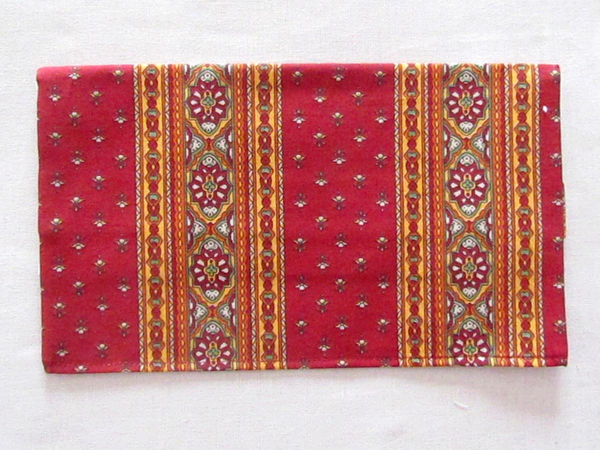La compagnie des tabliers pochette range serviette de table motif proven al vendues - Pochette serviette de table ...