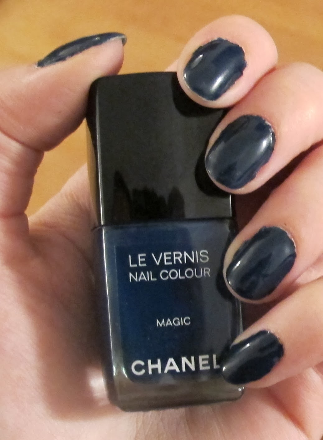 Steph Stud Makeup: Dark Navy Blue Manicure using Chanel