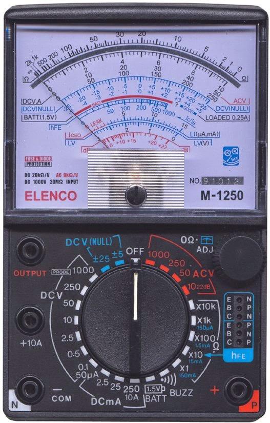 Multimeter Analog komponen elektronika
