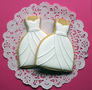 Sugar Mama Cookies Sugarveil Lace Wedding Dress Cookies