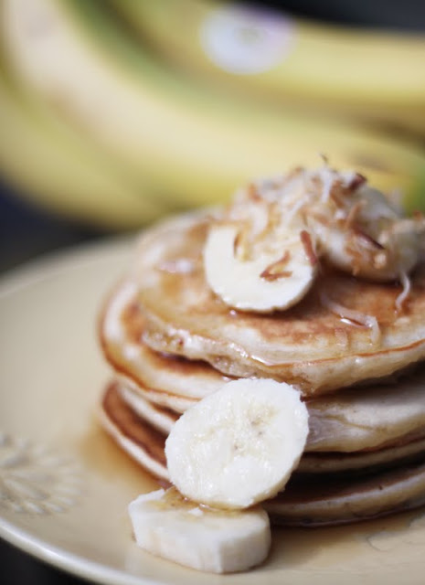 Coconut Banana Pancakes