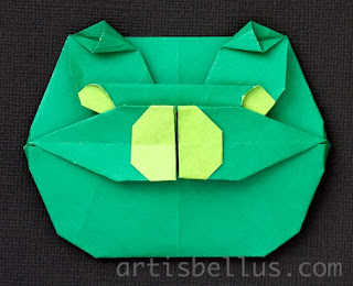 Funny Pig - New Origami Model and Video