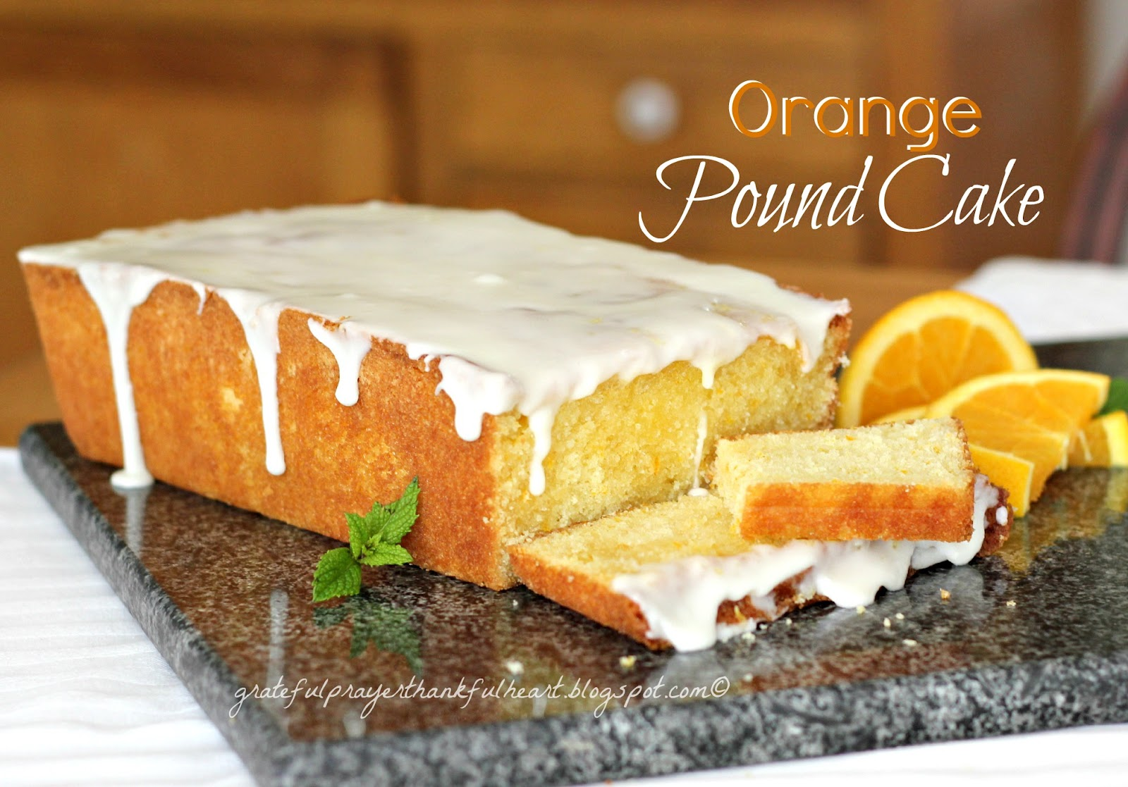 ... Prayer and a Thankful Heart: Orange Pound Cake with Triple Sec Cream