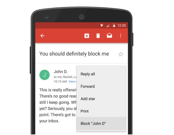 block in Gmail