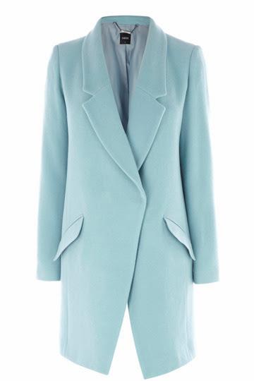 Pastel blue car coat