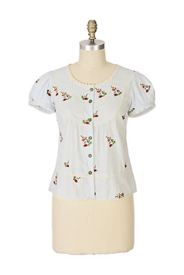 Anthropologie Luck Be A Ladybug Blouse