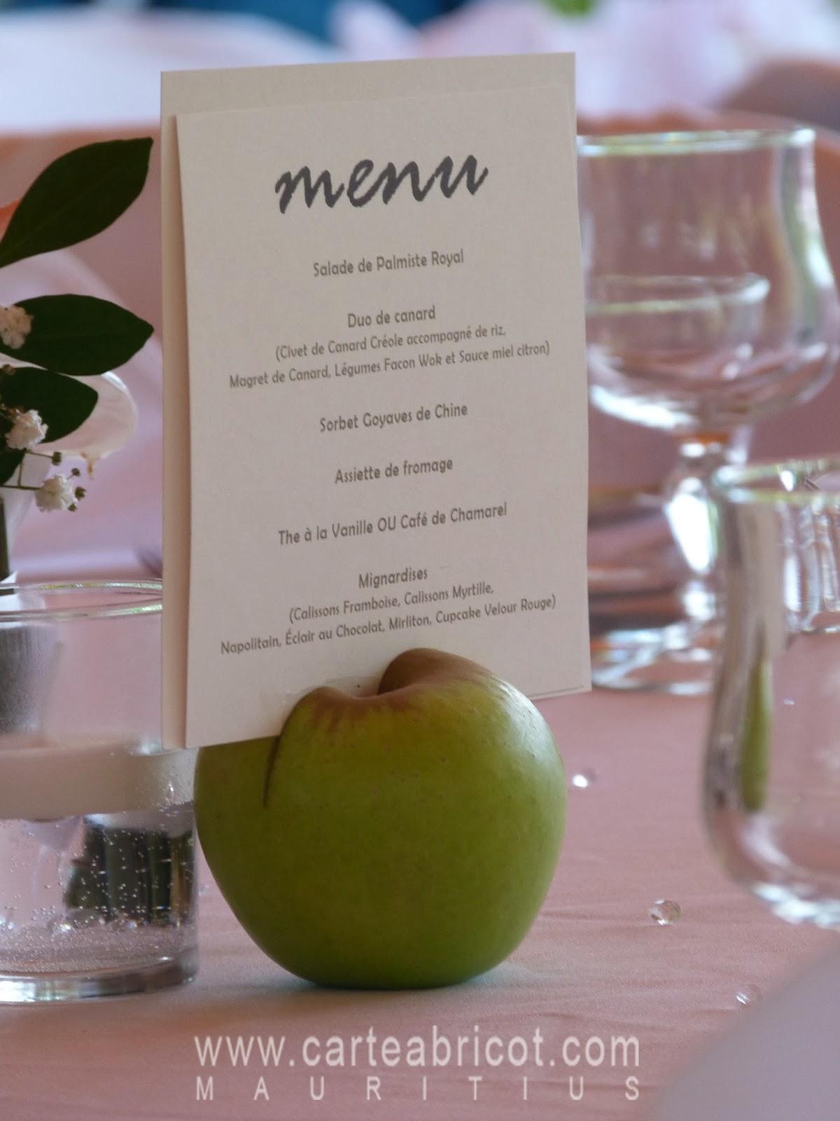 Assez Carte Abricot Wedding Planner à l'Ile Maurice: juillet 2013 QL91
