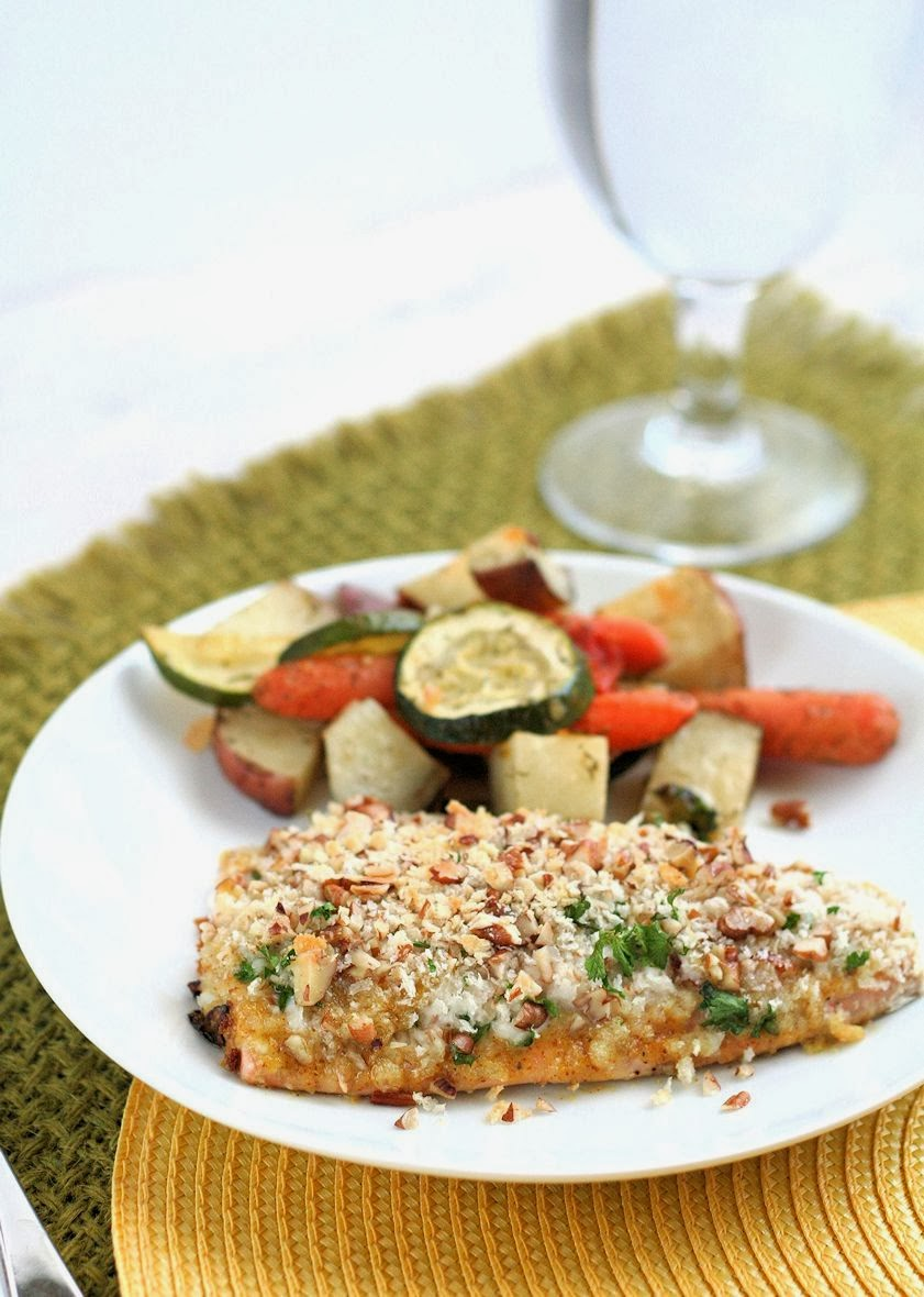 Easy Baked Pecan Crunch Salmon ~ The best (and easiest) salmon you'll eat!