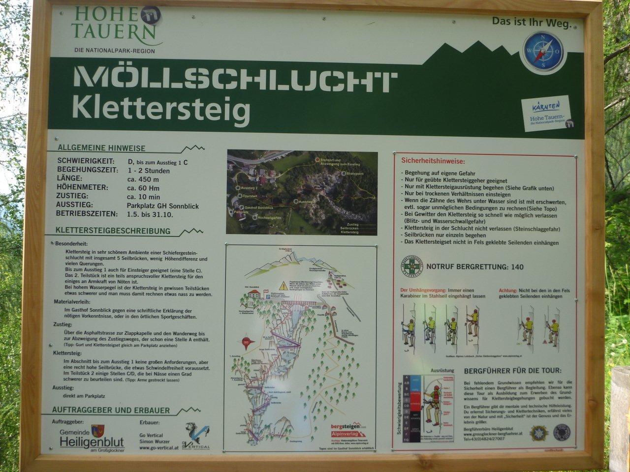 Klettersteigset Willhaben : Aufdiebergbinigern: möllschlucht neuer klettersteig in heiligenblut