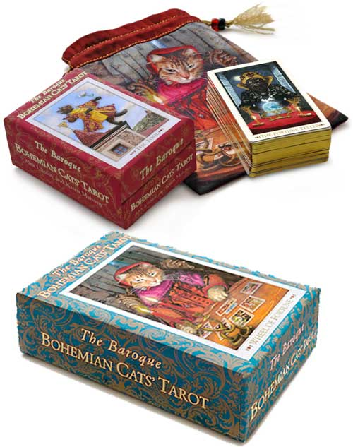 Baroque bohemian Cats Tarot Third 3rd Edition latest new Cats Eye Tarot พิมพ์ครั้งที่สาม ไพ่ทาโร่แมว ไพ่ทาโรต์แมว ไพ่ทาร็อต แมว ทาร็อท Baba-Studio Magic Realist Press