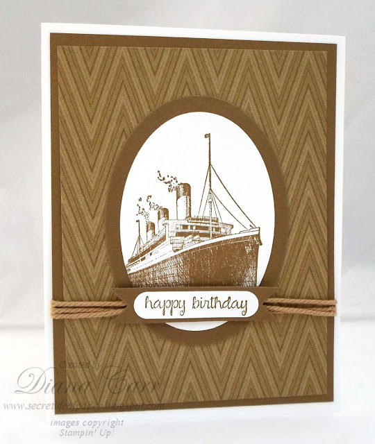 Traveler Birthday Card - Stampin' Up!