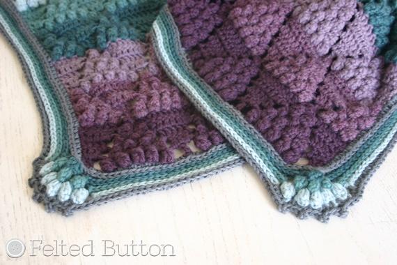 Felted Button Colorful Crochet Patterns Vintage Vineyard Blanket