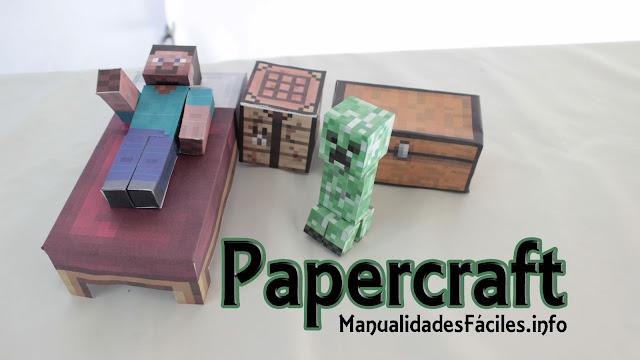 Papercraft de Minecraft, manualidades fáciles, manualidades para regalar, manualidades sencillas