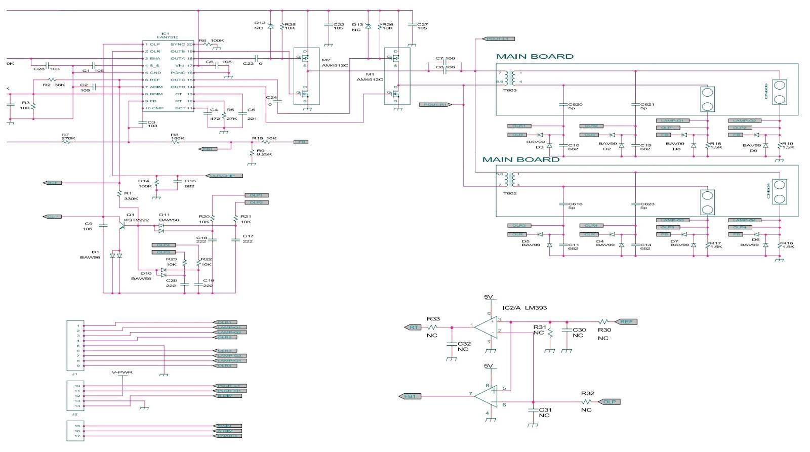 Подсветка жк телевизора схема