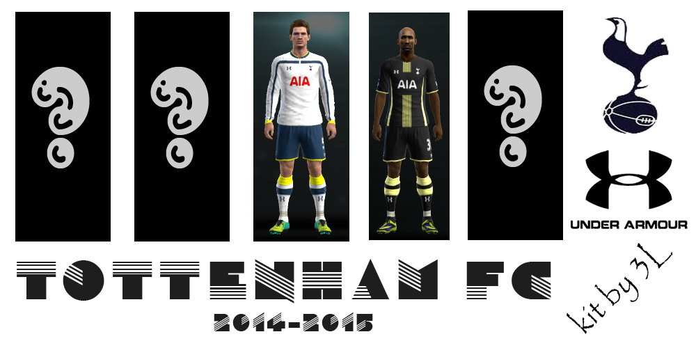 PES 2013 kit set Tottenham uniformes 2014/2015