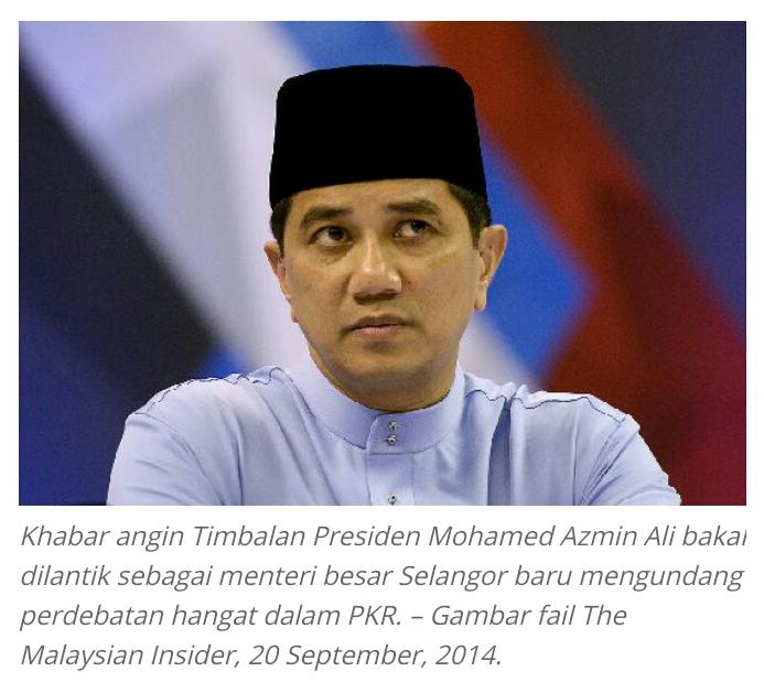 PKR MULA BERCAKARAN kerana khabar angin Azmin bakal jadi MB Selangor ELOK PAS saja Jadi MB itupun jika ada Keberanian