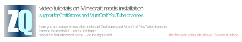 TUTORIALS ON MINECRAFT MODS INSTALLATION ⧉