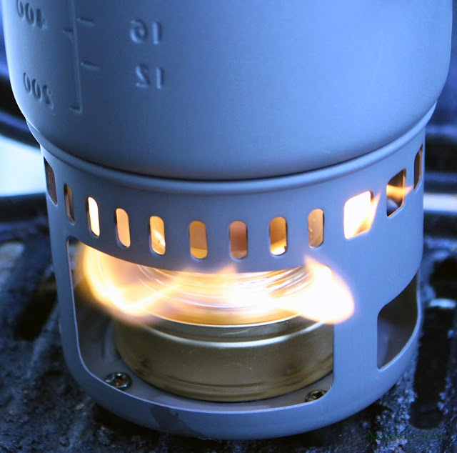 Esbit 5-Piece Trekking Cook Set - Windy Flame From Burner