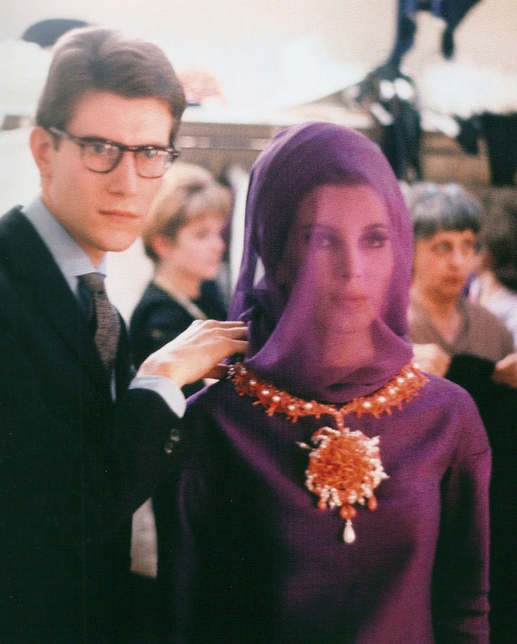 Yves Saint Laurent with Victoire Doutreleau in 1962 photographed by Pierre Boulat