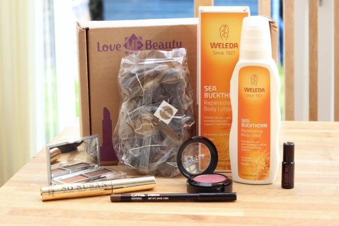 Love me beauty box - June 2014 menu 1