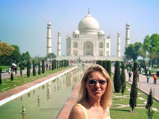 Holiday Nomad visiting the Taj Mahal Agra