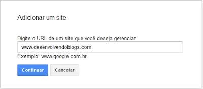 adicionando blog ou site