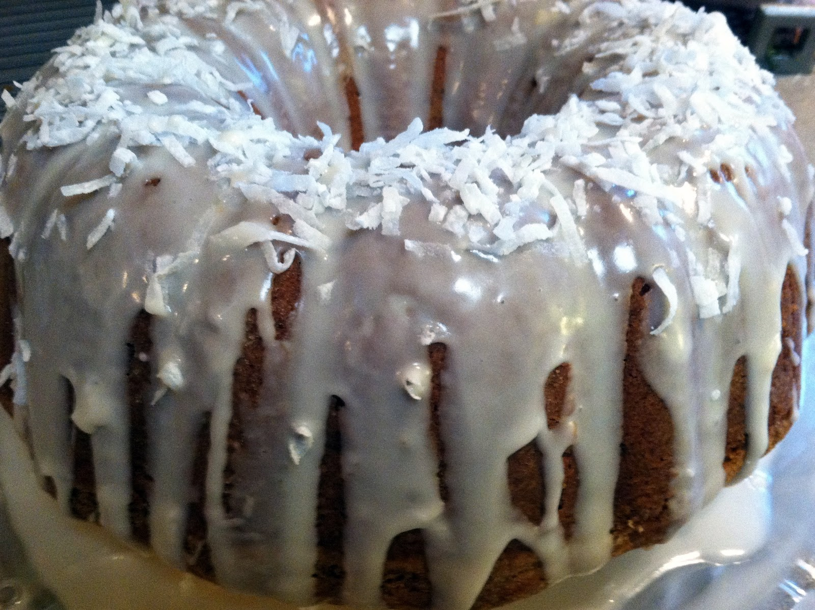 One Couple's Kitchen: Bourbon-Coconut Cream Cheese Pound Cake