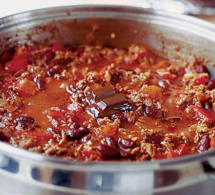 chocolate chilli recipe, chocolate chilli con carne,