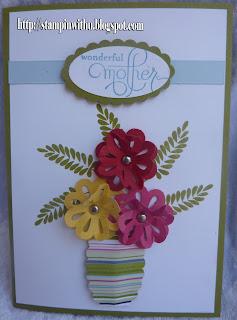 Vase Flower Mothersday Card