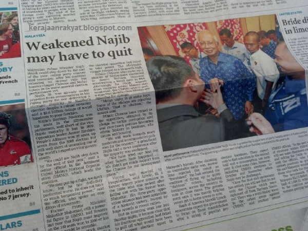 Najib Tun Razak berkemungkinan melepaskan jawatannya di penghujung tahun ini