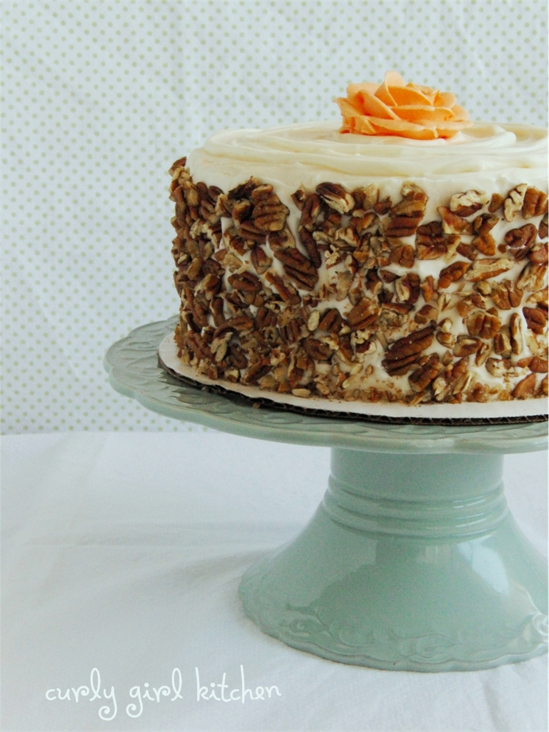 Curly Girl Kitchen: Browned Butter Carrot Cake with Salted Caramel ...