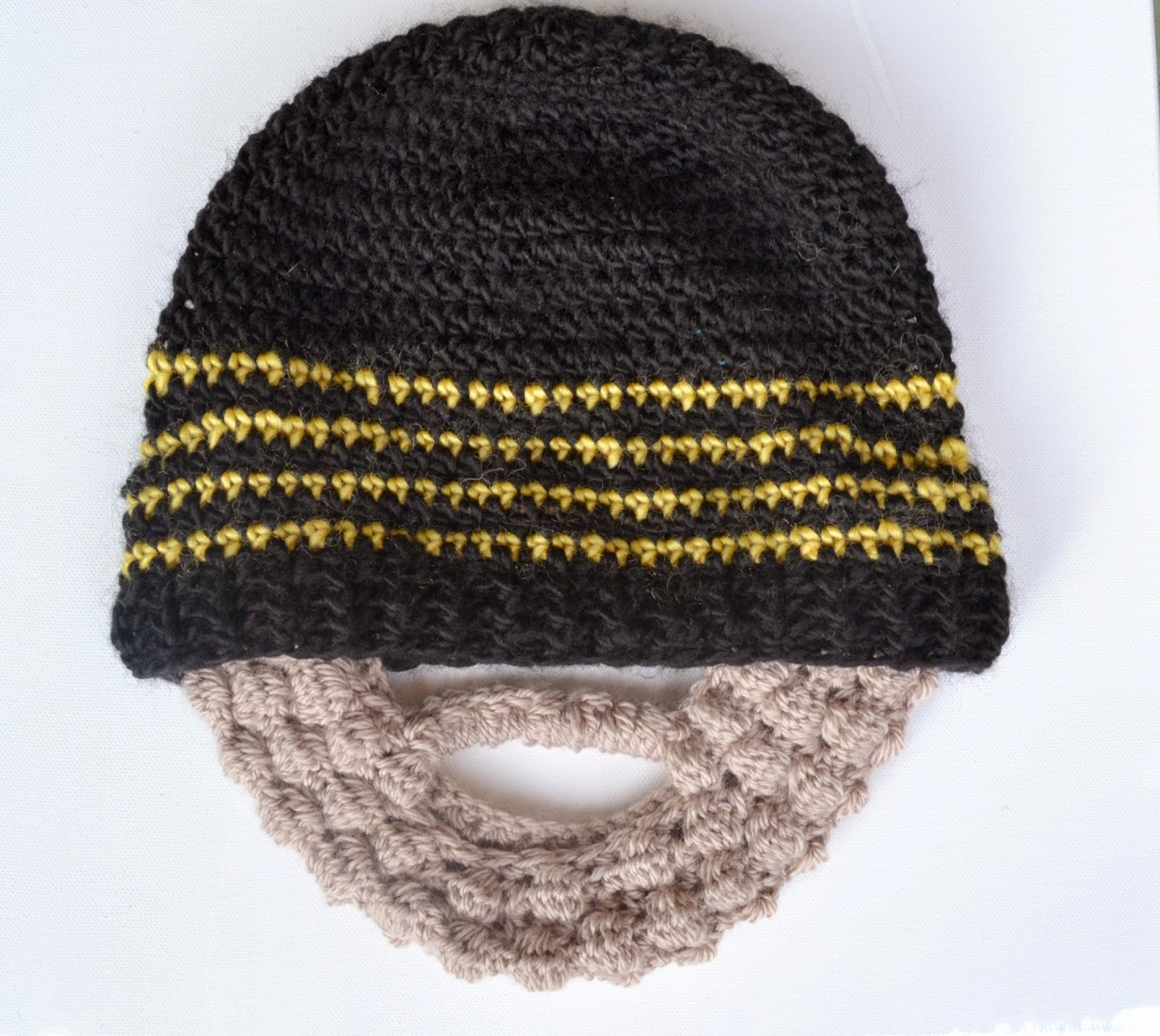 Crochet Pattern For Mens Beanie With Beard : Granny Square Flair