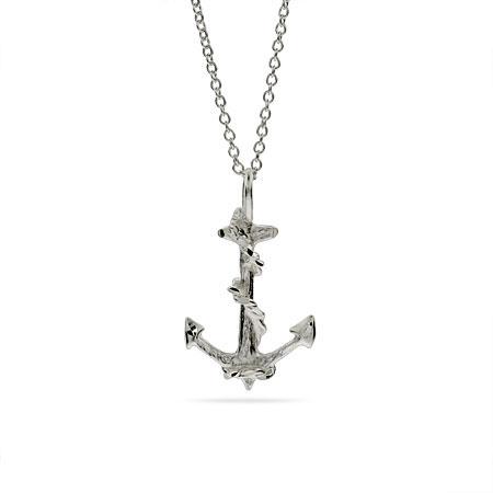 Silver Anchor Necklace2
