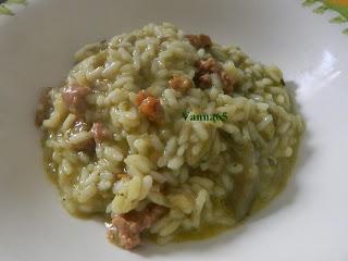 risotto con salsiccia e carciofi