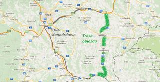 Trasa objazdu