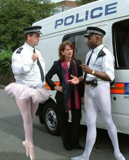 Funniest pictures of police: English policemen as ballerinas