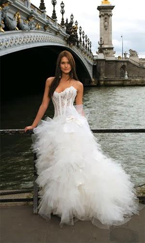 Vestido de novia moderno