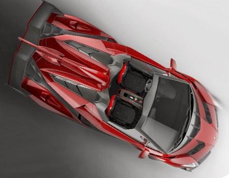 Red Lamborghini Veneno Roadster