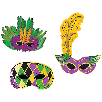 Dibujos De M  Scaras De Carnaval Para Imprimir