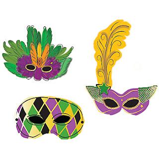 Dibujos de mascaras de carnaval para imprimir