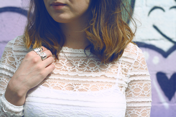 lace dress, never fully dressed, uk fashion, fashion blogger, top fashion blogger, jeffrey campbell boots, short hair, vintage, spainish dress, never fully dressed, silver cross necklace, rings and tings, cross,