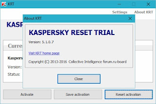 Trial Reset Kaspersky Security Suite KRT 5.1.0.7
