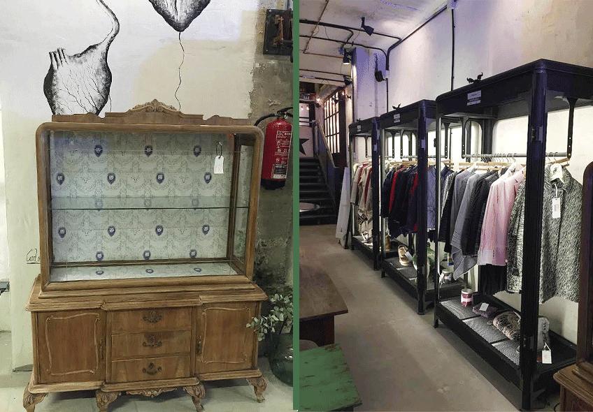 Decoración tienda vintage