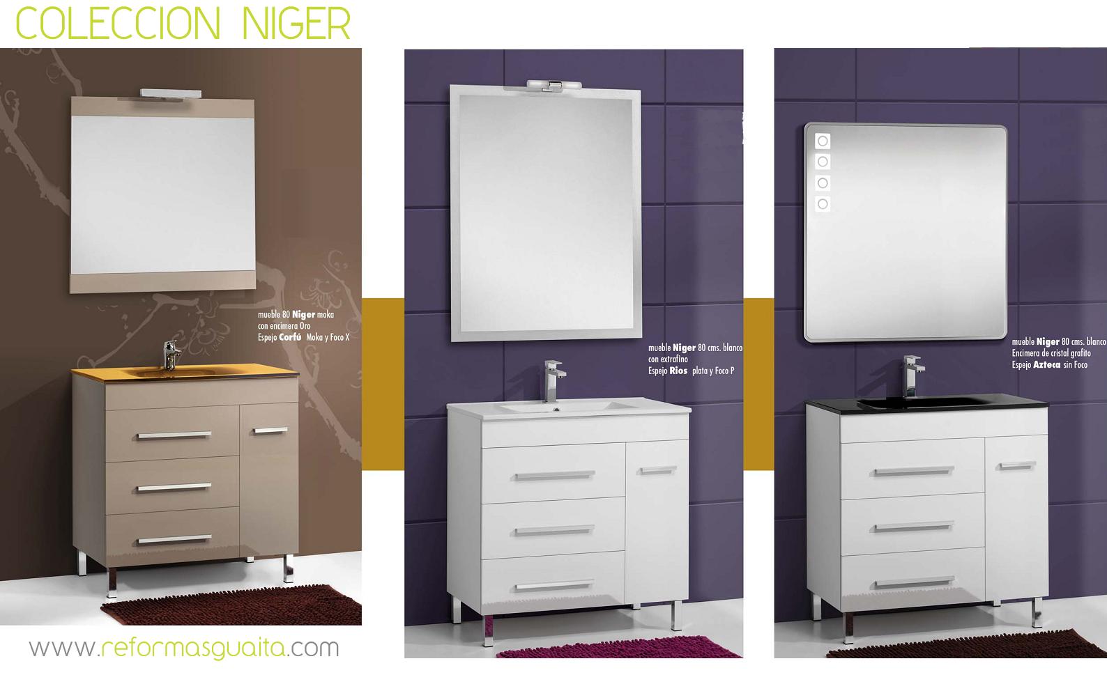 Colección NIGER de muebles de baño ~ Reformas Guaita