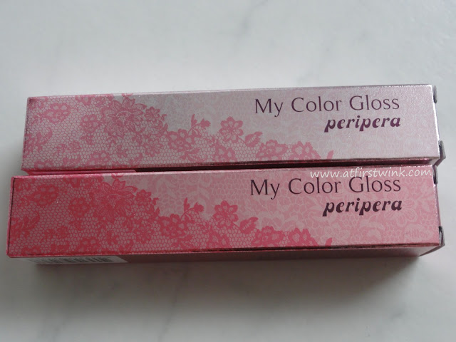 Peripera My Color Gloss packaging comparison